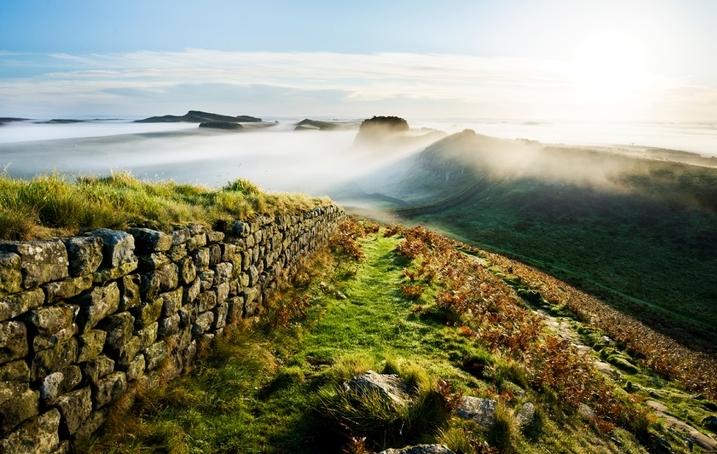 Wandern entlang des Hadrians Wall